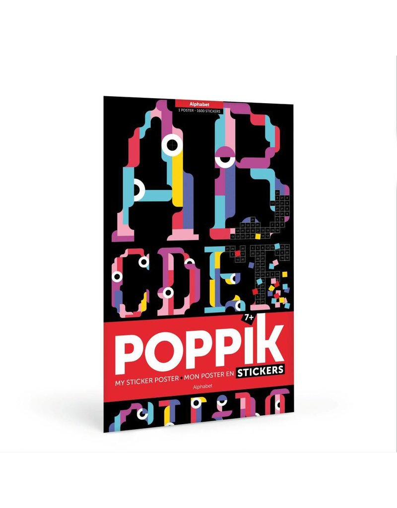 Poppik Maak je eigen sticker poster - ALFABET