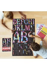 Poppik Make your own sticker poster - Alphabet