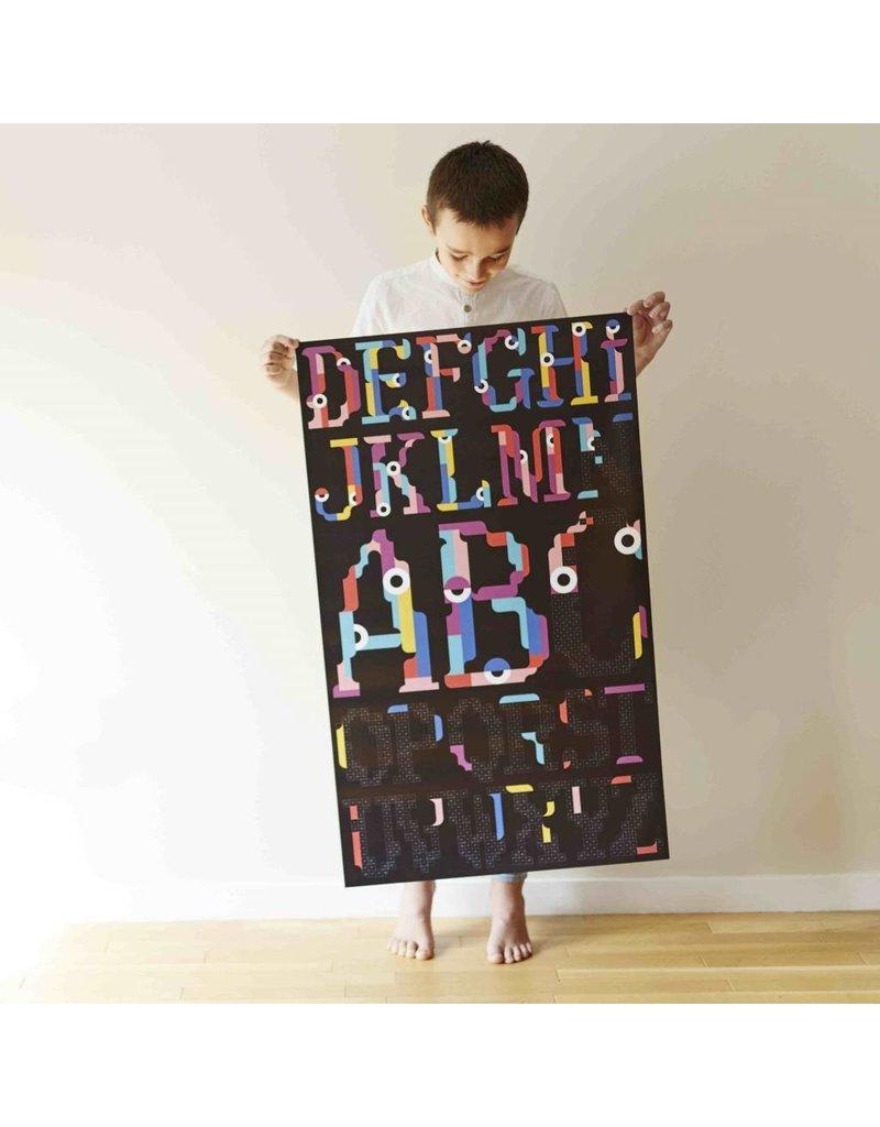 Poppik Make your own sticker poster - Alfabet
