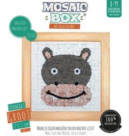 Neptune Mosaic Mosaicbox - Mozaiek met lijst Nijlpaard 17 cm