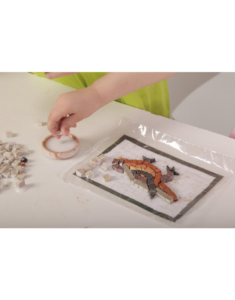 Neptune Mosaic Mosaicbox - Mozaiek met lijst Nijlpaard