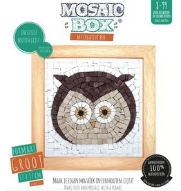 Neptune Mosaic Mosaicbox - Mozaiek met lijst Uil 17 cm