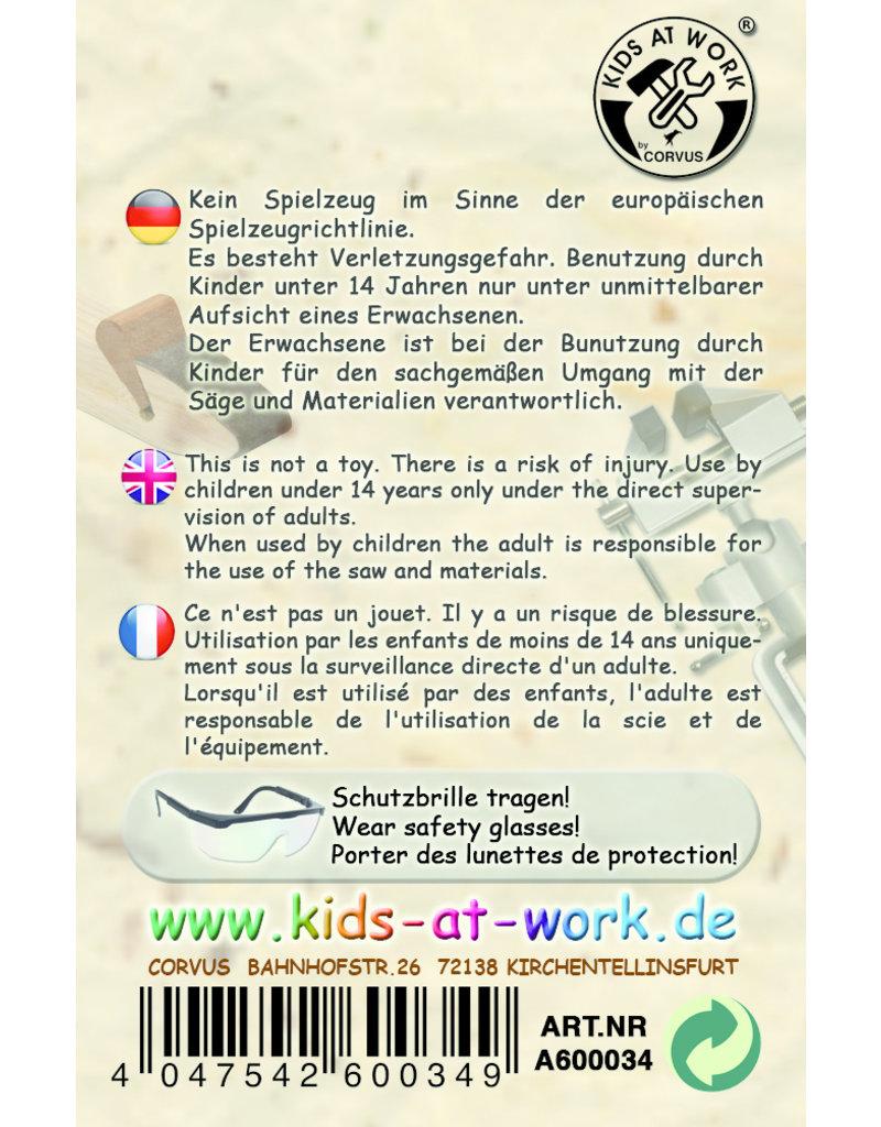 Kids at work Metalen beugelzaag  en verwisselbaar zaagblad