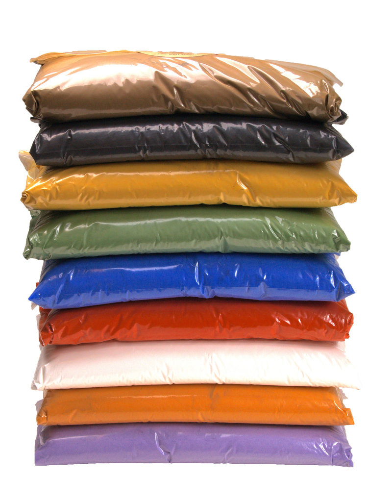 Natural Earth Paint Bulk packaging for 4 liters of orange organic paint