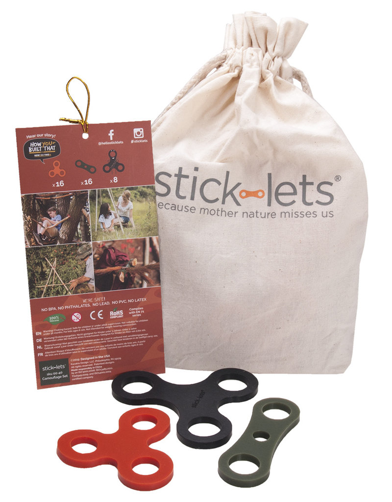 Stick-lets Stick-lets Camouflage schoolset set 40 pieces