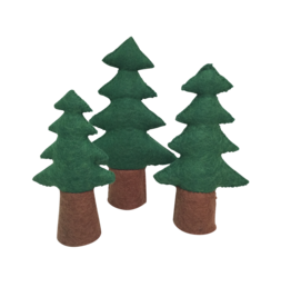 Papoose Toys Pine Trees Set/3