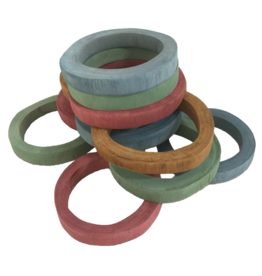Papoose Toys Earth Rings/12pc