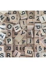Papoose Toys Natural letters and numbers set