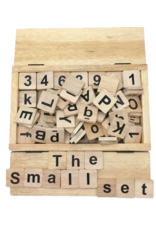 Papoose Toys Half  letter and number set