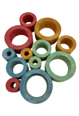 Papoose Toys Earth nested tubes / 12 pcs