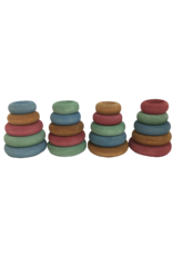Papoose Toys Earth stacking donuts / 20 pcs
