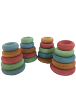Papoose Toys Earth stapel-donuts / 20 stuks
