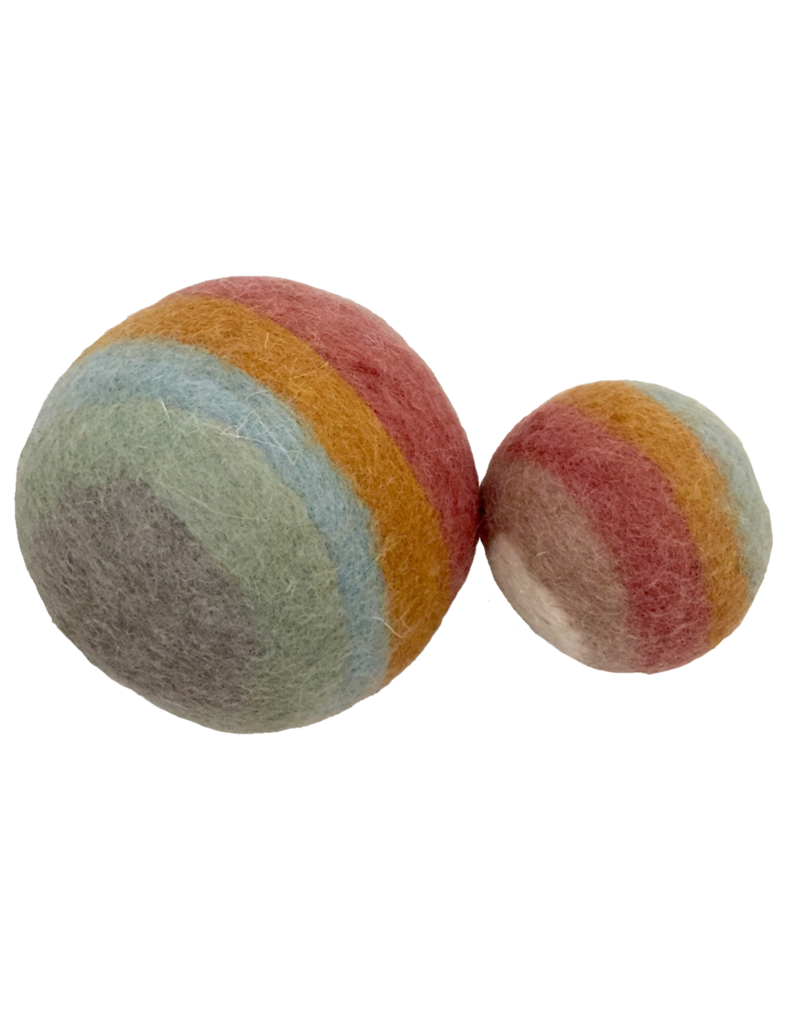Papoose Toys Earth rainbow balls / 2 pcs