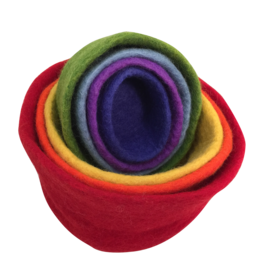 Papoose Toys Rainbow nested bowls / 7 pcs