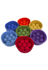 Papoose Toys Rainbow ball bowl set 3+