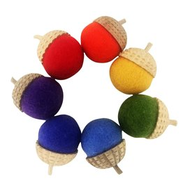 Papoose Toys Rainbow acorns / 7 pcs