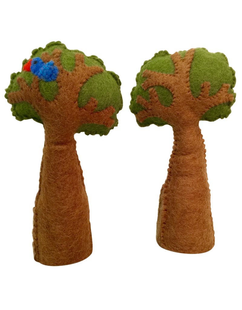 Papoose Toys Tree with bird / 2 stuks