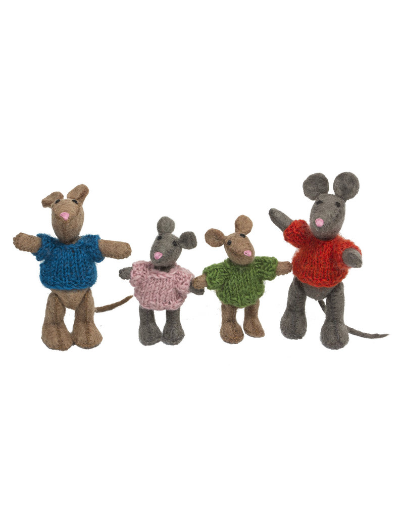 Papoose Toys Mouse family / 4 pcs
