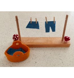 Papoose Toys Mouse house washing line set