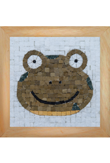 Neptune Mosaic Mosaicbox - Mozaiek met lijst Kikker portret 17 cm