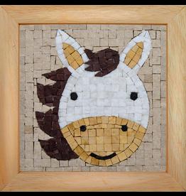Neptune Mosaic Mosaicbox - Mozaiek met lijst Paard