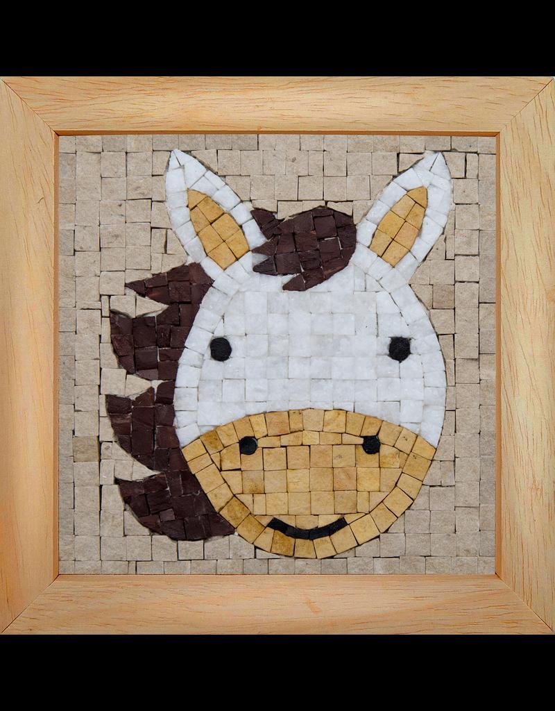 Neptune Mosaic Mosaicbox - Mozaiek met lijst Paard portret 17 cm