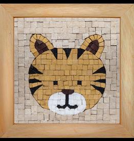 Neptune Mosaic Mosaicbox - Mozaiek met lijst Tijger