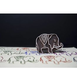 Blockwallah Block stamp Royal Elephant small