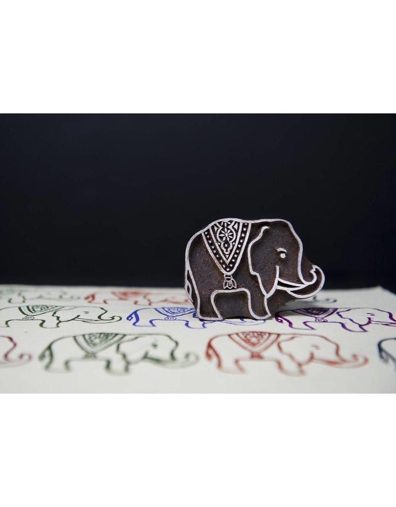 Blockwallah Block stamp Royal Elephant small