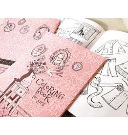 Marbushka colouringbook for girls