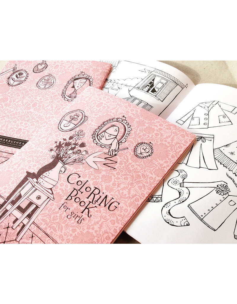 Marbushka colouringbook for girls