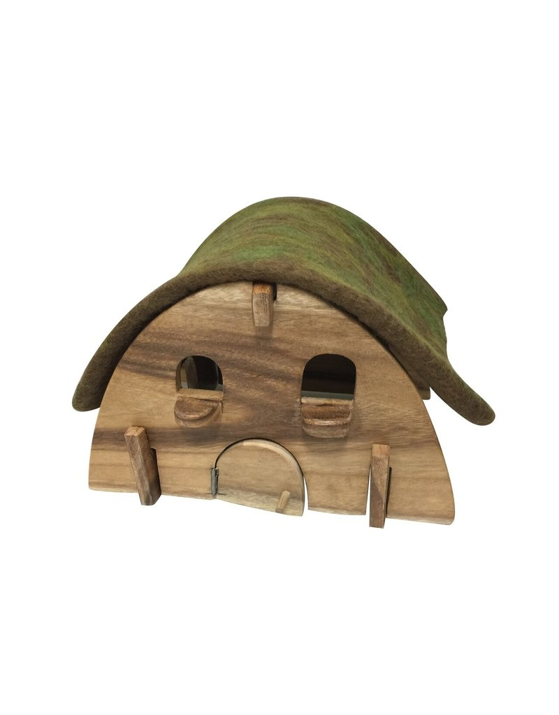 Papoose Toys Gnome house with felt roof