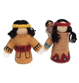 Papoose Toys Native americ family / 3 pcs