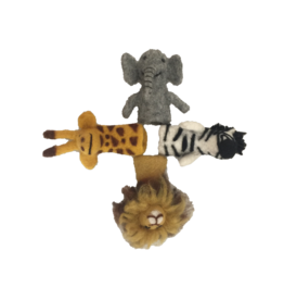Papoose Toys African animal finger puppets / 4 pcs