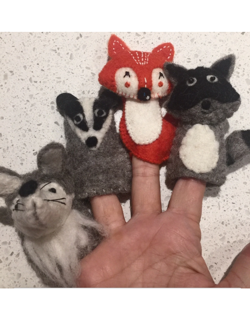 Papoose Toys Woodland finger puppets / 4 pcs