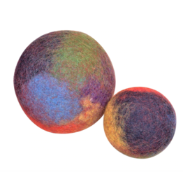 Papoose Toys Marbled rainbow balls / 2 pcs