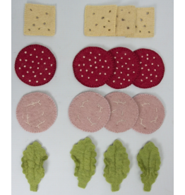 Papoose Toys Sandwich toppings / 16 pcs