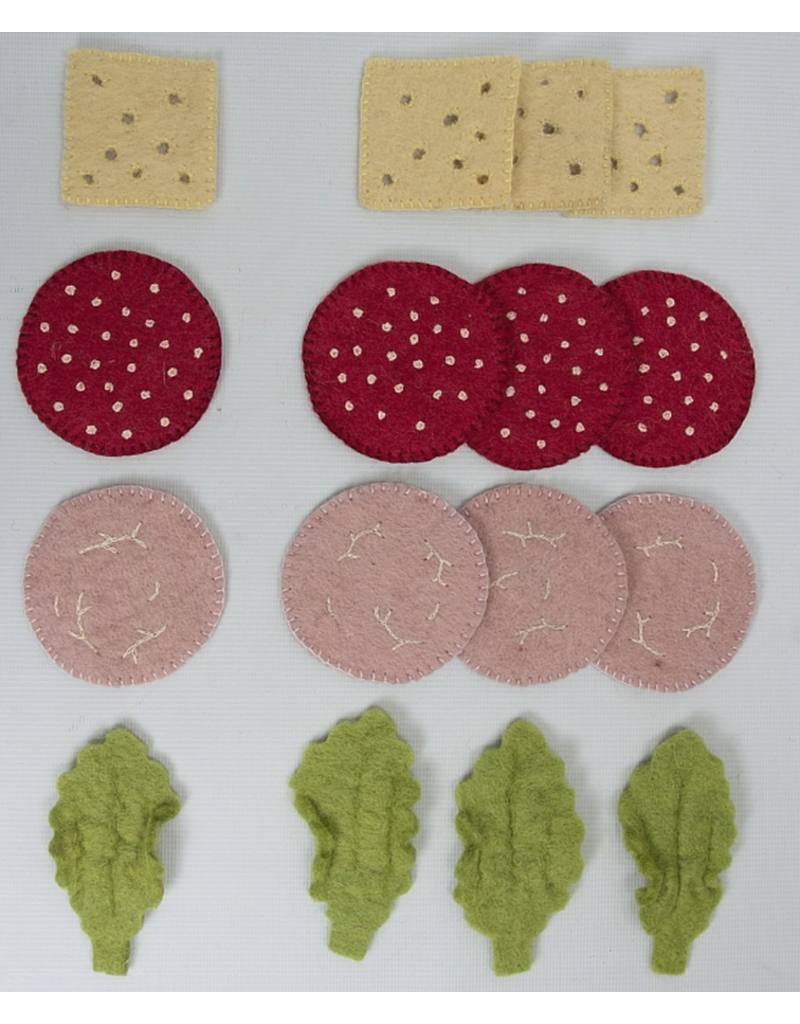 Papoose Toys Sandwich toppings / 16 stuks