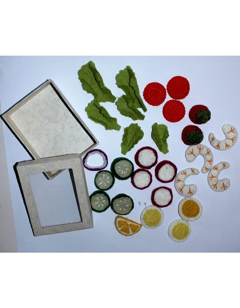 Papoose Toys Salad set / 30 pcs