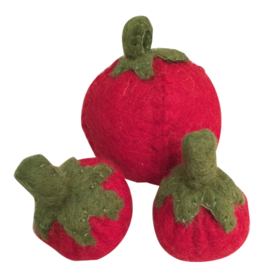 Papoose Toys Felt food tomatoes / 3 pcs