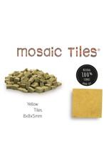 Neptune Mosaic Pot met 1100 gele mozaieksteentjes geel 700 g 0,6 l