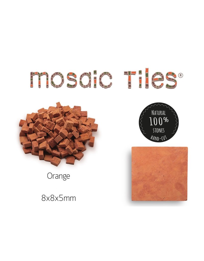 Neptune Mosaic Pot met 1000 oranje mozaieksteentjes 700 g 0,6 l