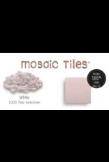 Neptune Mosaic Pot met 1000 witte mozaieksteentjes 900 g/0,5 l