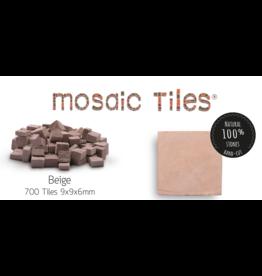 Neptune Mosaic Pot met 700 beige mozaieksteentjes