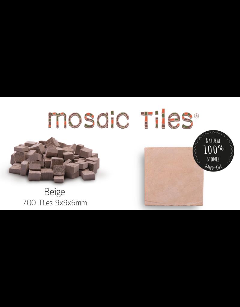 Neptune Mosaic Pot met 700 beige mozaieksteentjes 900 g/0,5 l