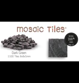 Neptune Mosaic Pot met 1100 donkergroene mozaieksteentjes