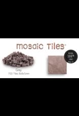 Neptune Mosaic Pot met 700 grijze mozaieksteentjes 900 g/0,5 l