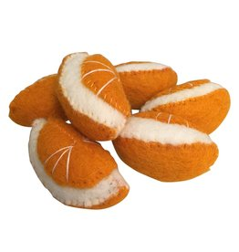 Papoose Toys Felt food fruit orange  / 6 pcs