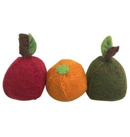 Papoose Toys Vilten fruit set / appel peer sinaasappel