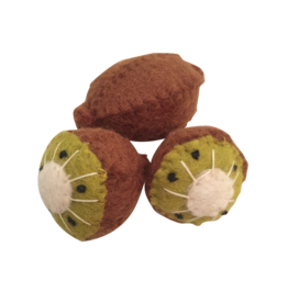 Papoose Toys Felt food fruit kiwi / 3 pcs